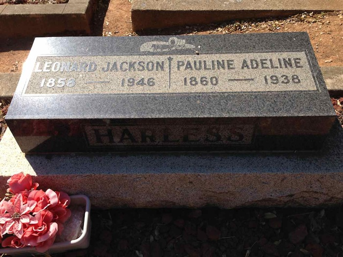 Finding the Gravesite of 2nd Great Grandparents Leonard Harless Jackson and Pauline Adeline Gann