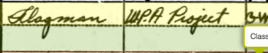 Harless George Walter - 1940 US Census - Employment