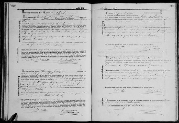Nieto Refugio - Compean Aurelia - Marriage - 1883 - FamilySearch