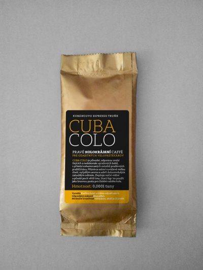 ... CUBA COLO je původní, odpornou směsí tlejících a nedokonale upražených bobů, s příměsí exhumovaných ostatků pradávných pražičů kávy ...
