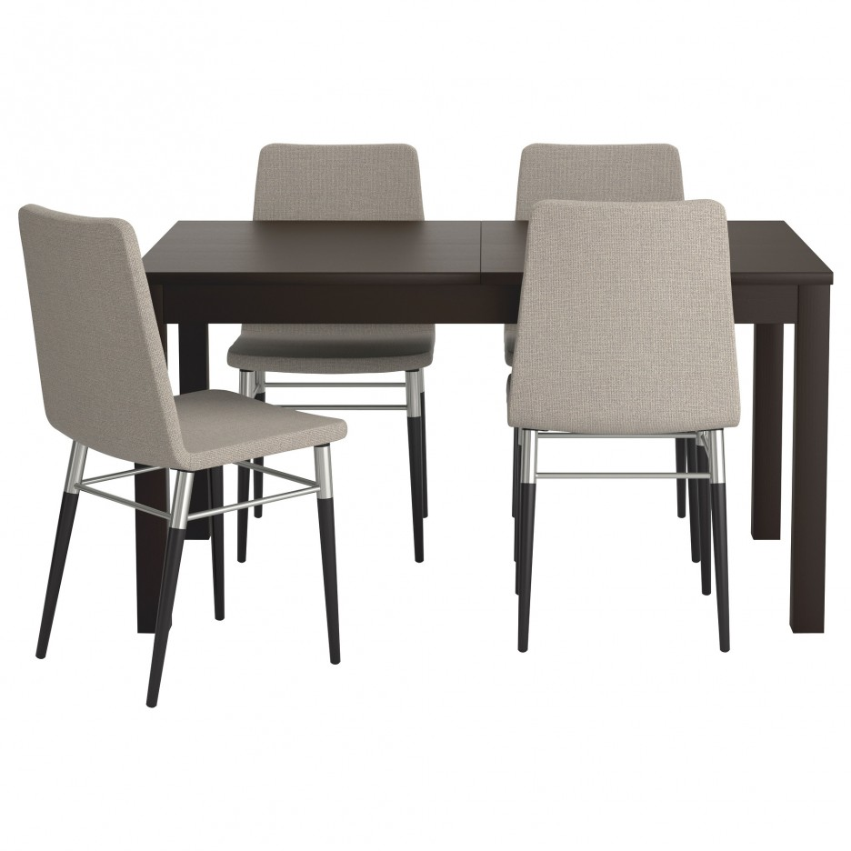 Best Small Dining Table Sets from IKEA with Best Chair Design in Grey Combined with Black Chair Design Idea 936x936