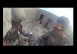 Vídeo mostra fuzileiro salvo pelo capacete após tiro do Talibã