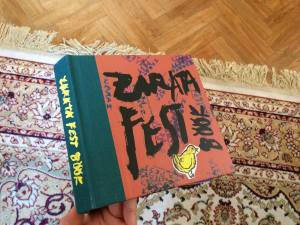 A commemorative book for the 10 years of Zarata fest organized by Miguel A. García in Bilbao.