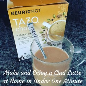 Make and Enjoy a Chai Latte at Home in Under One Minute