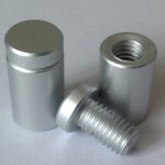 13 x 13mm Satin Anodised Aluminium Stand Off Fittings