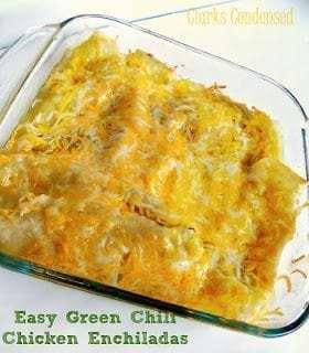 Easy Green Chili Enchiladas