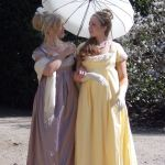 Lilac and Yellow Regency Gowns