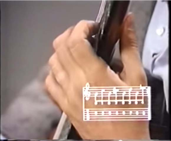 classical guitar - left hand position