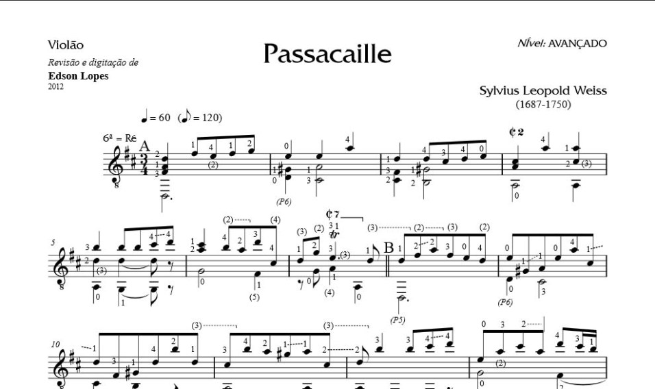 leopold weiss passacaglia in D
