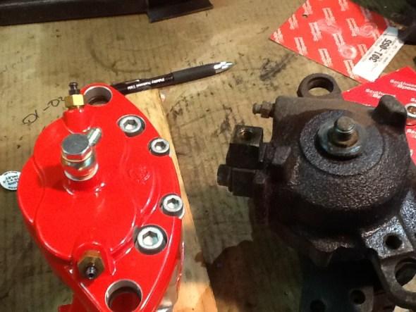 rear caliper