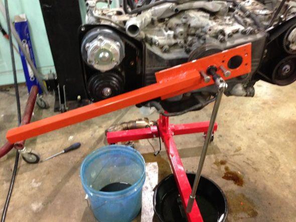 breaking crank bolt