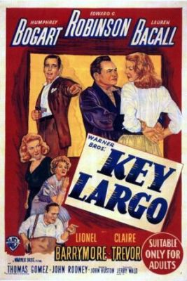 Key Largo (1948) with Humphrey Bogart and Lauren Bacall