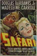 1940 Safari Movie Poster