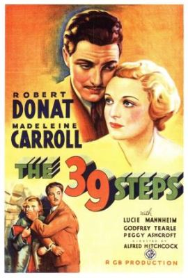 The 39 Steps (1935) with Robert Donat and Madeleine Carroll