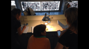 Tackling the concept of heat capacity using heat lamps and various substrate materials.