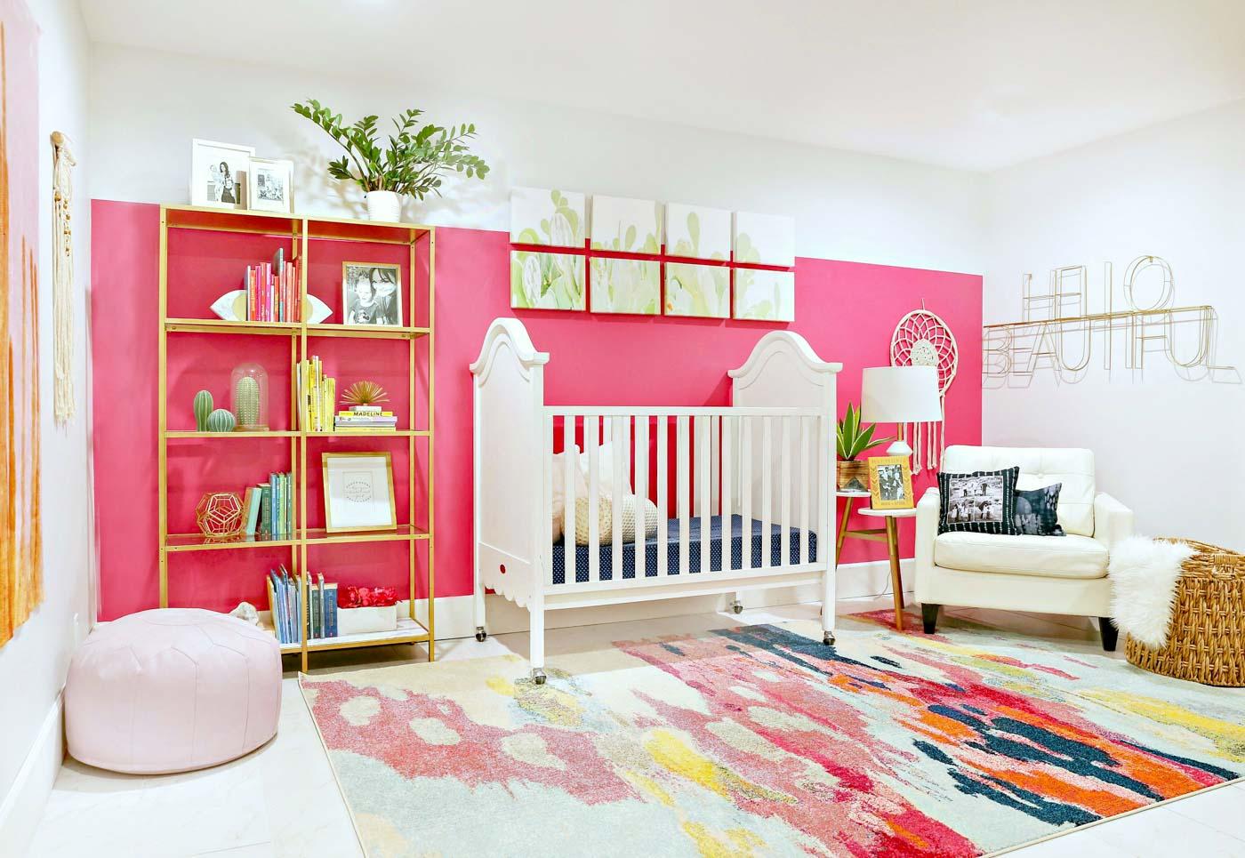 Nifty Girl Nursery Ranch Colorful Baby Girl Nursery Clutter Baby Girl Nursery Room Ideas Baby Girl Nursery Color Schemes baby Baby Girl Nursery