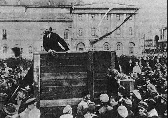 Manipulated Photoshop Photos - Lenin Addresses the Troops 1920