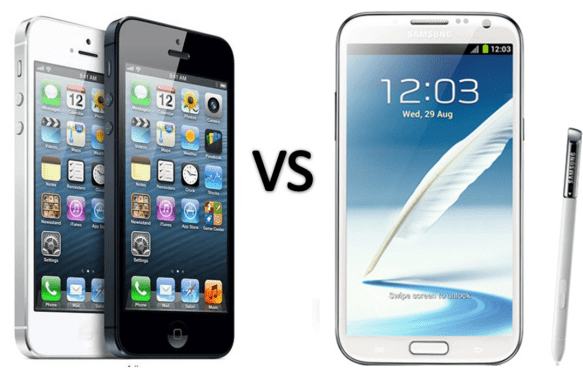 Apple iPhone 5 vs Samsung Galaxy Note 2