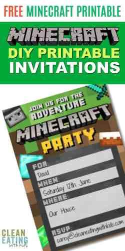 Small Of Minecraft Birthday Invitations