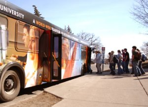 Buses Popular at Universities