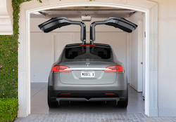 Tesla Model X in Garage