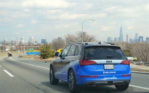 automated cars,self-driving cars,Delphi,Audi
