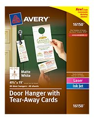 Avery Door Hangers to market cleaning business