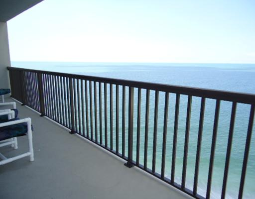 Sand Key condos balcony view of gulf of mexico