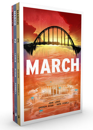 MARCH by John Lewis, Andrew Aydin, and Nate Powell reviewed by Brian Burmeister