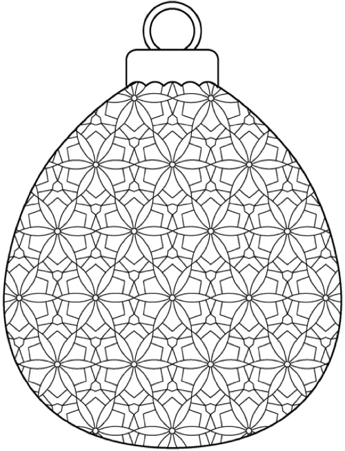 intricate coloring pages christmas - photo#34