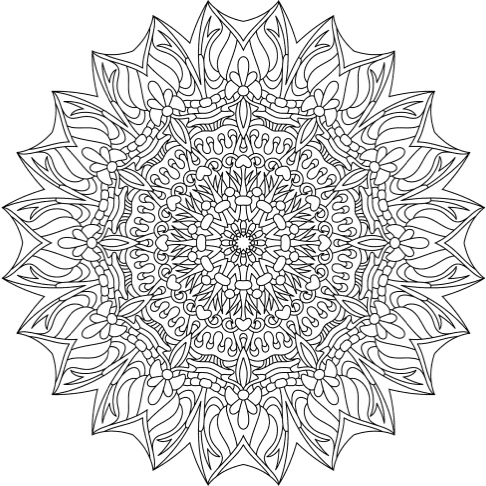 Extreme coloring pages kaleidoscope pictures to pin on for Extreme coloring pages