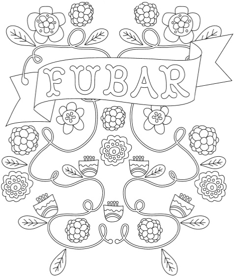 Adult Coloring Swear Words Wordle Coloring Pages