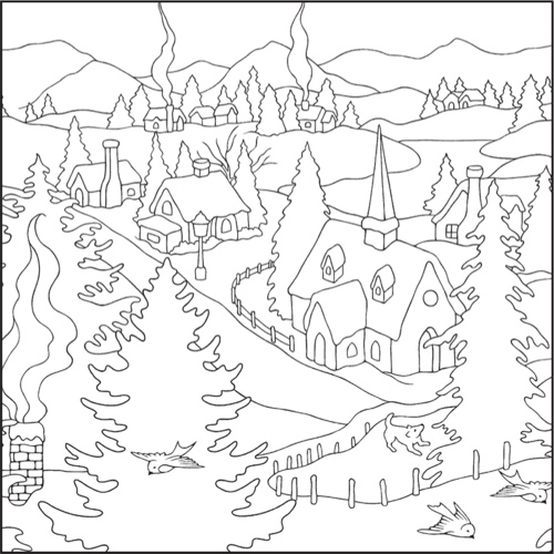 free coloring pages winter wonderland - photo#7