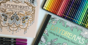 Gorgeous Coloring Books by Swedish Artist Hanna Karlzon Now Available in the US!