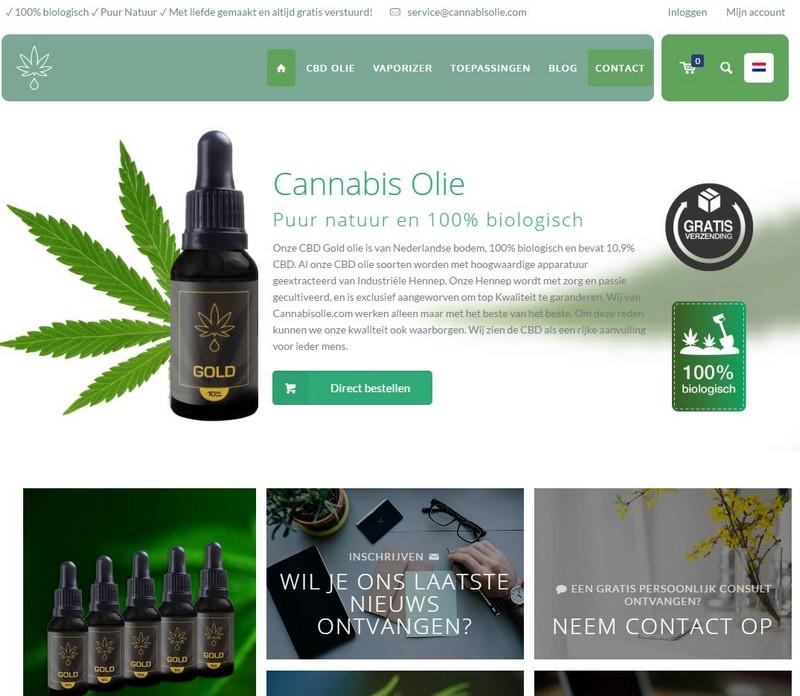Cannabisolie voorblad