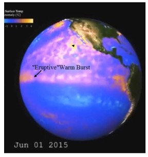 "Figure 6.) Geologically induced ""Eruptive"" warm burst that helps generate 2014-2015 El Niño"