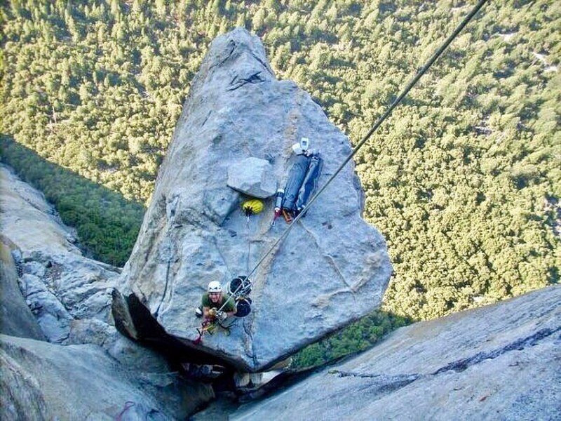 Learn Big Wall and Aid Climbing skills to get you places like this! Salathe Wall, El Capitan, Yosemite.