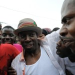 Shabba Ranks greeted by fans on his arrival in Kingston in 2012!