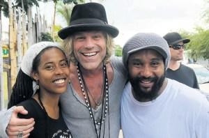 L-R: Donisha Prendergast, Big Kenny, Kymani Marley