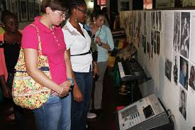 Visitors checking out the various exhibitions at the Jamaica Music Museum