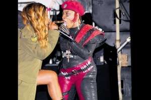 Lady Saw and Macka Diamond slugging it out at Sting 30