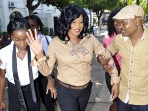 Shanique Myrie leaving court