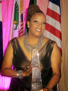 Sharon with award