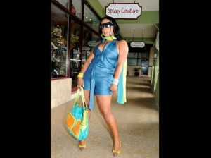 A model in clothing from Spicey Couture