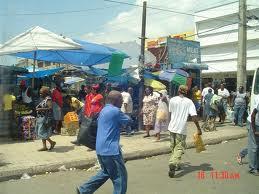 Shoppers in Downtown Kingston