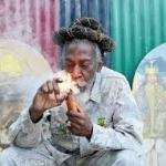 Bunny Wailer lights up!