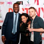 Director Jeremy Wittaker, actress Karian Sang, and singer Bazil