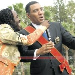 "Nesbeth & Prime Minister Andrew Holness jamming to ""My Dream"""
