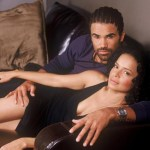 Victoria Rowell as Drusilla in Y&R with Shemar Moore aka Malcolm