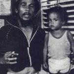 Bob & the young Jr. Gong Marley